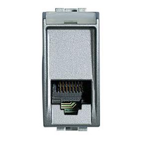 Розетка телефонная 3 кат., RJ 11, LivingLight 1 модуль