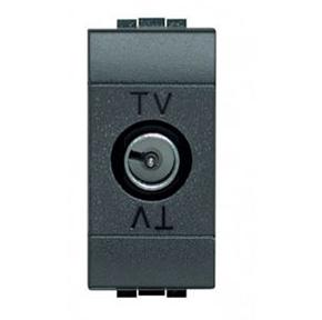 TV+SAT oконечная коаксиальная розетка для схемы «звезда» LivingLight, 1 модуль
