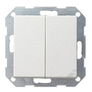 Выключатель 2 кл - белый глянцевый, Gira System 55