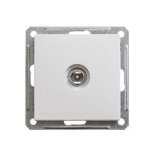 Механизм телевизионной оконечной розетки Schneider Electric W59, цвет белый