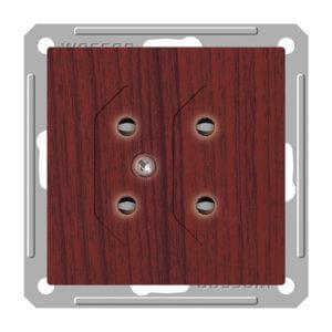 Механизм двойной розетки под плоские вилки Schneider Electric W59, цвет морёный дуб