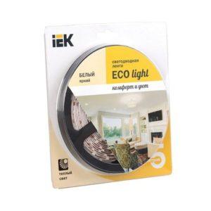 Лента LED 5м блистер LSR-3528WW120-9.6-IP20-12V теплый белый цвет ИЭК-eco