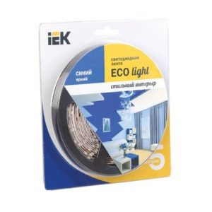 Лента LED 5м блистер LSR-3528B60-4.8-IP20-12V ИЭК-eco синяя