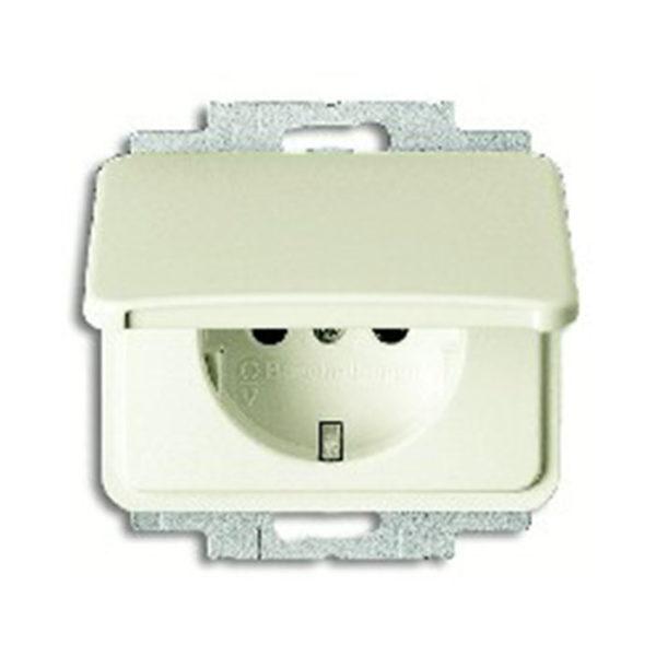 Розетка с заземляющими контактами c крышкой ABB 16А/250В