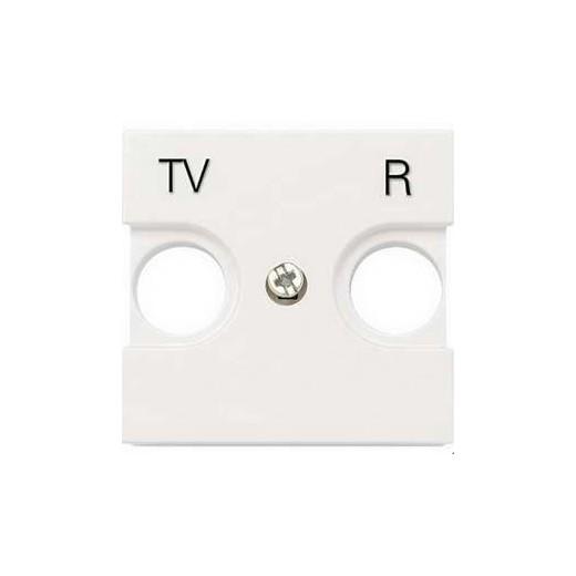 Телевизионная розетка TV-R оконечная ABB Niessen Zenit (Белый)