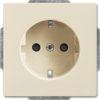Розетка электрическая ABB 16А 250В, безвинтовые клеммы (слоновая кость)