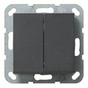 Выключатель двухклавишный Gira 10А/250В