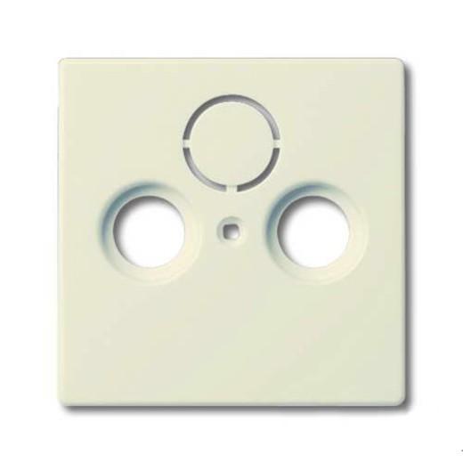 Розетка ТВ + радио оконечная Jung с лицевой панелью Abb Basic 55, слоновая кость