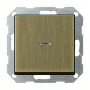 Выключатель одноклавишный универс. с подсветкой Gira (вкл/выкл с 2-х мест) 10А/250В