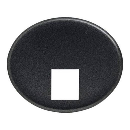Телефонная розетка 4 контакта ABB Tacto (Антрацит)