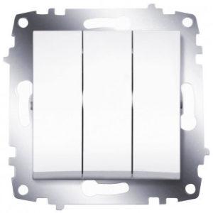 Выключатель 3 клавишный ABB Cosmo белый