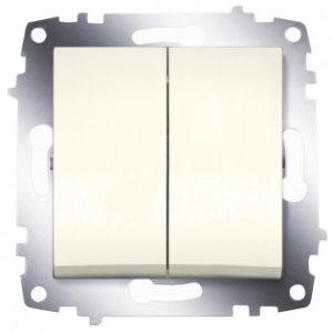 Выключатель 2 клавишный ABB Cosmo кремовый