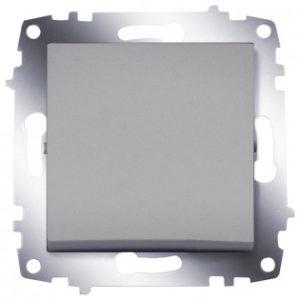 Выключатель 1 клавишный ABB Cosmo алюминий