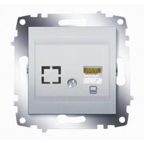 Розетка компьютерная 1-ая rj 45 6 кат. ABB Cosmo алюминий