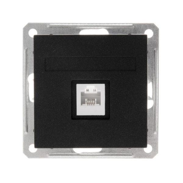Механизм телевизионной розетки Schneider Electric W59, цвет черный бархат