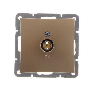 Механизм телевизионной оконечной розетки 0,7 дБ Schneider ДУЭТ, цвет шампань