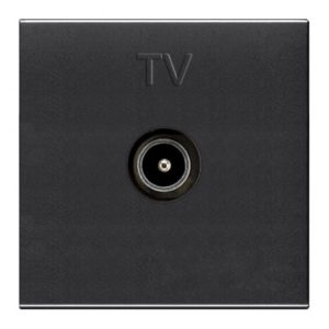 Телевизионная розетка TV одиночная ABB Niessen Zenit антрацит