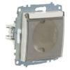 Розетка электрическая с заземлением с крышкой ABB Cosmo белый