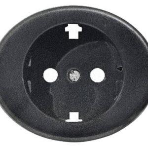 Розетка с заземлением ABB Tacto 16А/250В (Антрацит)