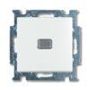 Выключатель одноклавишный с подсветкой ABB Basic 55, белый