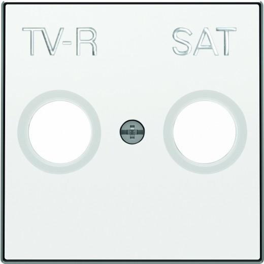 Розетка TV-R проходная ABB Sky, белый