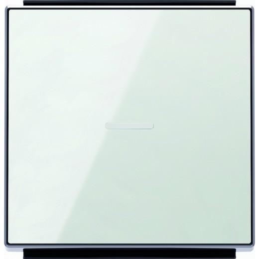 Выключатель одноклавишный перекрестный с подсветкой ABB Sky (из 3-х мест), 10А, белое стекло