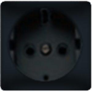 Розетка с заземлением Fede 10-16А/250В, винтовой зажим (черный)