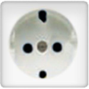 Розетка с заземлением Fede 10-16А/250В, винтовой зажим (белый)