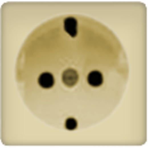 Розетка с заземлением со шторками Fede 10-16А/250В, винтовой зажим (бежевый)