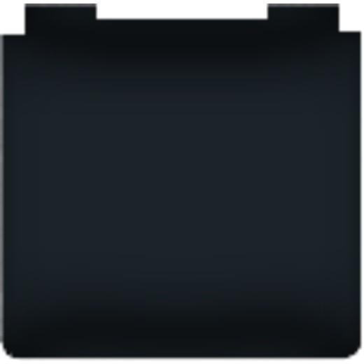 Розетка с заземлением с крышкой влагозащищенная Fede 10-16А/250В IP44 (черный)