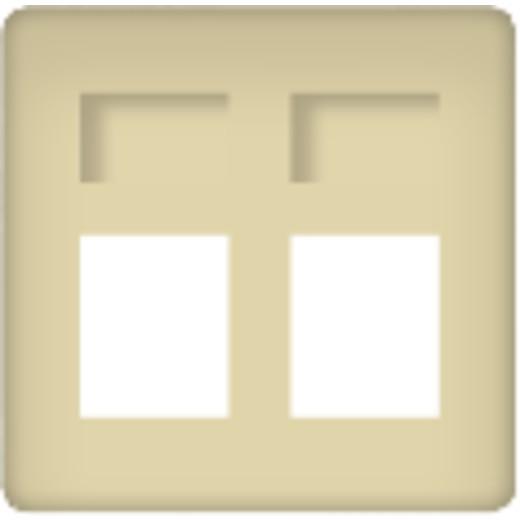 Розетка телефонная двойная Fede (Бежевый)