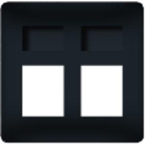 Розетка телефонная/компьютерная двойна Fede (черный)