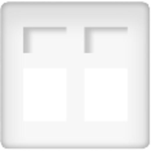 Розетка телефонная двойная Fede (белый)