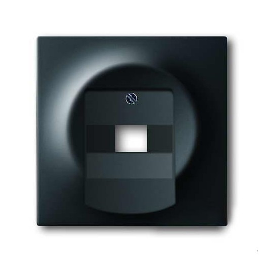 Розетка компьютерная одинарная ABB Impuls RJ45 5-й кат., черный бархат