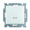 Выключатель двухклавишный с подсветкой ABB Basic 55, белый