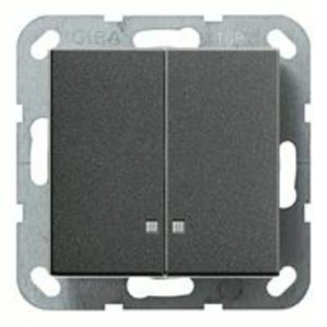 Выключатель двухклавишный с подсветкой Gira 10А/250В