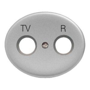 Розетка TV-R без фильтра ABB Tacto (Серебряный)
