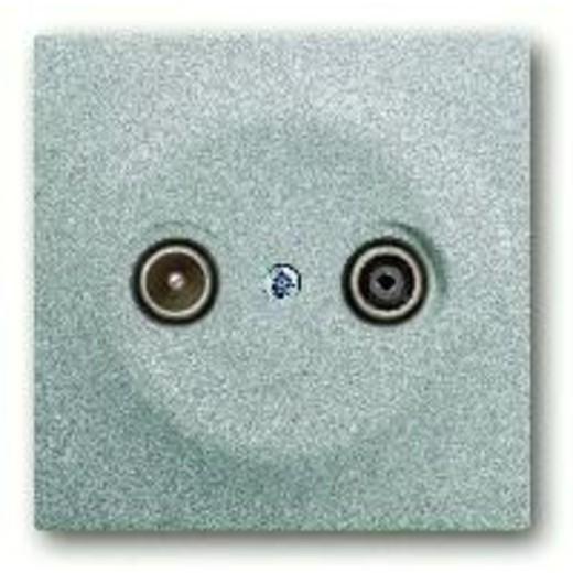 Розетка телевизионная проходная ABB Impuls TV-FM, серебристый алюминий