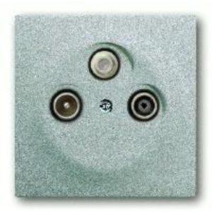 Розетка телевизионная оконечная ABB Impuls TV-SAT-FM, серебристый алюминий