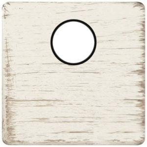 Телевизионная розетка оконечная Fede (белый декапо/черный)