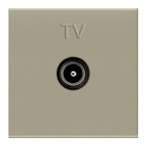 Телевизионная розетка TV одиночная ABB Niessen Zenit шампань