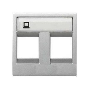 Розетка компьютерная 8 контактов одноместная ABB Niessen Zenit, категория 5E (серебристый)