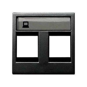 Розетка компьютерная двойная ABB Niessen Zenit, категория 5E (антрацит)