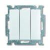 Выключатель трехклавишный ABB Basic 55, белый