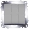Выключатель 3 клавишный ABB Cosmo алюминий