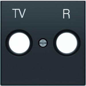Розетка TV-R единственная ABB Sky, черный бархат