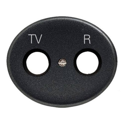 Розетка TV-R без фильтра ABB Tacto (Антрацит)