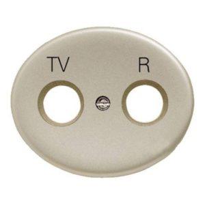 Розетка TV-R без фильтра ABB Tacto (Шампань)