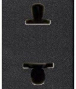 Розетка без заземления (узкая, 1 модуль) ABB Niessen Zenit 16А (антрацит)