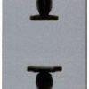 Розетка без заземления (узкая, 1 модуль) ABB Niessen Zenit 16А (серебристый)